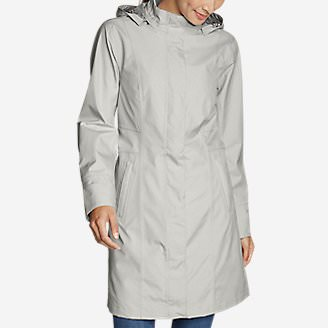 Women's Girl on the Go Trench Coat in Gray