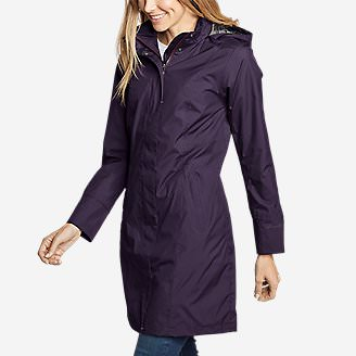 Women's Girl on the Go Trench Coat in Purple