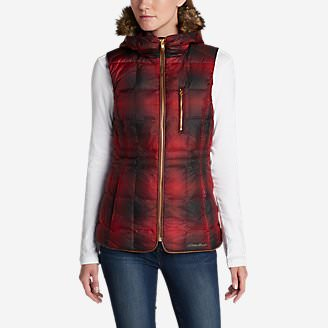 Women's Yukon Classic Down Vest - Plaid in Red