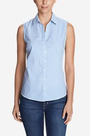Women's Wrinkle-Free Sleeveless Shirt - Print in Blue