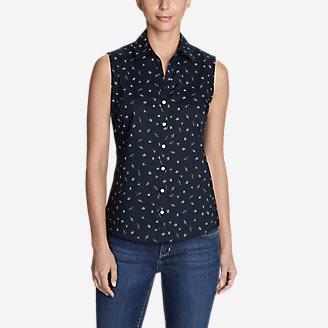 Women's Wrinkle-Free Sleeveless Shirt - Print in Purple