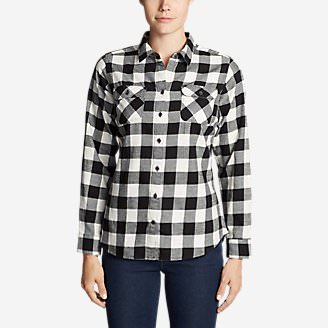 Women's Stine's Favorite Flannel Shirt - Plaid Plus in Black
