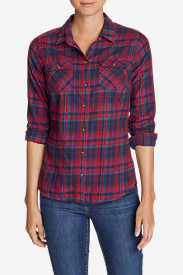 Women's Stine's Favorite Flannel Shirt - Plaid in Purple