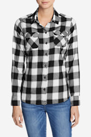 Women's Stine's Favorite Flannel Shirt - Plaid in Black