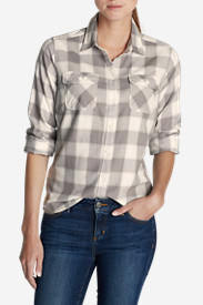 Women's Stine's Favorite Flannel Shirt - Plaid in Gray