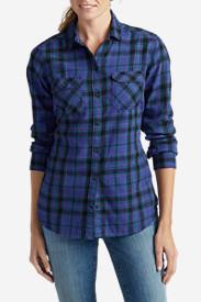 Women's Stine's Favorite Flannel Shirt - Plaid in Blue