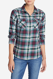Women's Stine's Favorite Flannel Shirt - Plaid in Purple