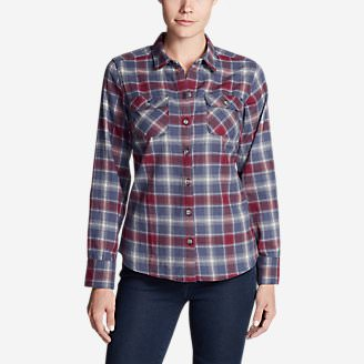 Women's Stine's Favorite Flannel Shirt - Plaid in Blue