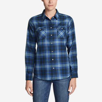 Women's Stine's Favorite Flannel Shirt - Plaid Plus in Blue