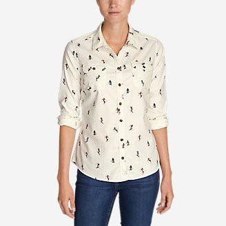 Women's Stine's Favorite Flannel Shirt - Plaid in White