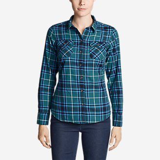 Women's Stine's Favorite Flannel Shirt - Plaid Plus in Green