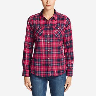 Women's Stine's Favorite Flannel Shirt - Plaid in Pink