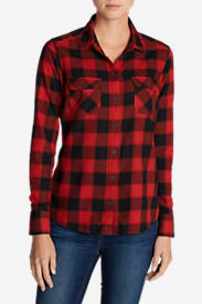 Women's Stine's Favorite Flannel Shirt - Plaid Petite in Red