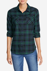 Women's Stine's Favorite Flannel Shirt - Plaid Petite in Blue