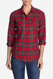 Women's Stine's Favorite Flannel Shirt - Plaid in Red