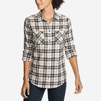 Women's Stine's Favorite Flannel Shirt - Plaid in Beige