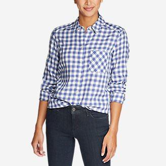 Women's Tranquil Boyfriend Shirt - Plaid in Blue
