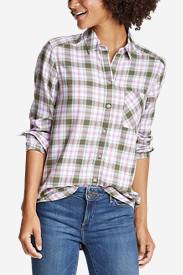 Women's Tranquil Boyfriend Shirt - Plaid in Green