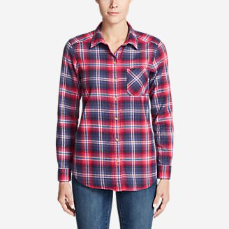 Women's Stine's Favorite Flannel Shirt - Boyfriend in Purple