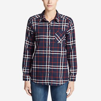 Women's Stine's Favorite Flannel Shirt - Boyfriend in Blue
