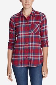 Women's Stine's Favorite Flannel Shirt - One-Pocket Boyfriend in Purple