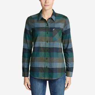 Women's Stine's Favorite Flannel Shirt - Boyfriend in Green