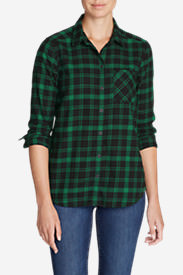 Women's Stine's Favorite Flannel Shirt - Boyfriend in Green