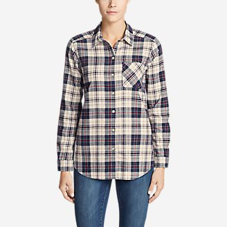 Women's Stine's Favorite Flannel Shirt - Boyfriend in White