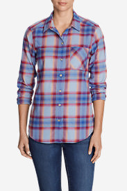 Women's Stine's Favorite Flannel Shirt - One-Pocket Boyfriend in Purple