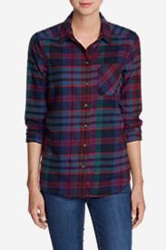 Women's Stine's Favorite Flannel Shirt - One-Pocket Boyfriend in Red