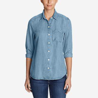 Women's Tranquil Boyfriend Shirt - Indigo in Blue