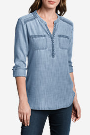Women's Tranquil Embroidered Tunic - Indigo in Blue