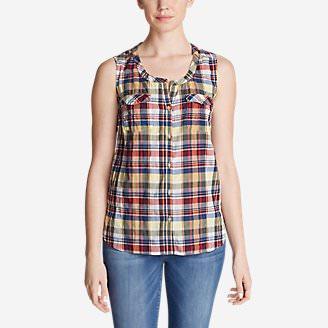 Women's Packable Sleeveless Shirt in Yellow
