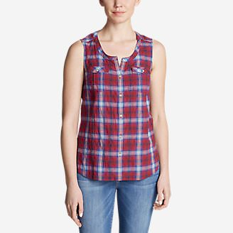 Women's Packable Sleeveless Shirt in Red