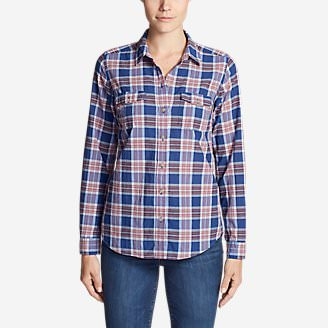 Women's Classic Packable Shirt Plus in Blue