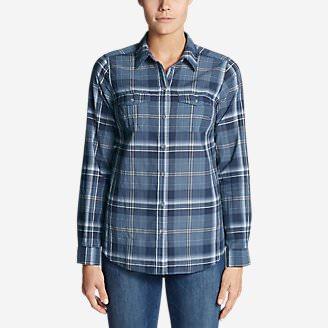 Women's Classic Packable Shirt in Blue