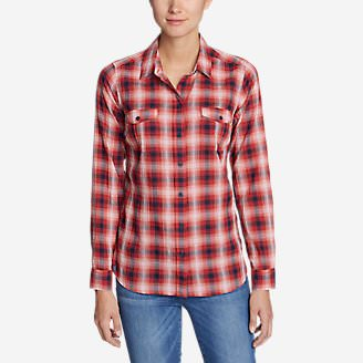 Women's Classic Packable Shirt Plus in Red
