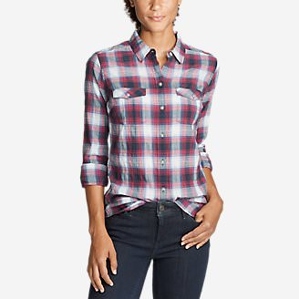 Women's Classic Packable Shirt in Red