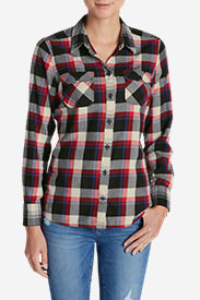 Women's Stine's Favorite Flannel Mixed Plaid Shirt in Gray