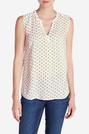 Women's Sunrise Sleeveless Popover Shirt Tall in Beige