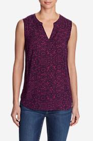 Women's Sunrise Sleeveless Popover Shirt Tall in Purple