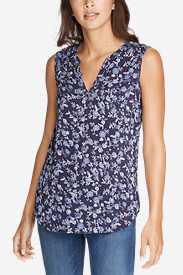 Women's Sunrise Sleeveless Popover Shirt in Blue