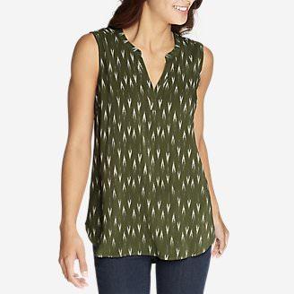 Women's Sunrise Sleeveless Popover Shirt in Green