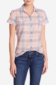 Women's Packable Short-Sleeve Shirt in Pink