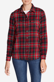 Women's Fireside Shirt Jacket in Red
