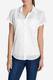 Women's Packable Short-Sleeve Shirt - Solid in White