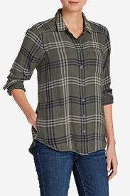 Women's Treeline Double Cloth Shirt in Green