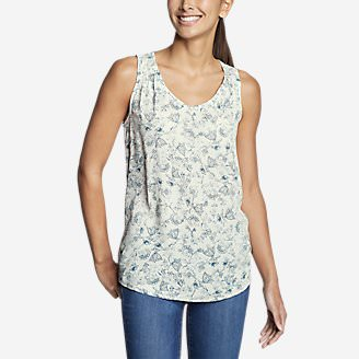 Women's Thistle Tank Top - Printed in Beige