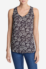 Women's Thistle Tank Top - Printed in Purple