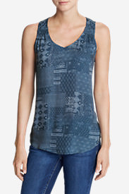 Women's Thistle Tank Top - Printed in Blue